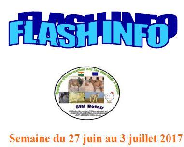 FLASH-INFO Système d'information sur les marchés à bétail