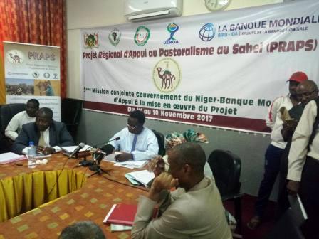 5 ème mission conjointe Gouvernement du Niger-Banque mondiale d'Appui à la mise en œuvre du projet régional d'appui au Pastoralisme au Sahel, PRAPS