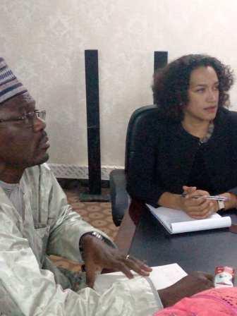 Visite de la Représente Résidente de la mission de la Banque Mondiale au Niger,Mme Joëlle H. au PRAPS