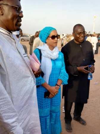 Quelques images de la Représentante Résidente de la Banque Mondiale lors de la visites de stades d'exposition a Ingall.
