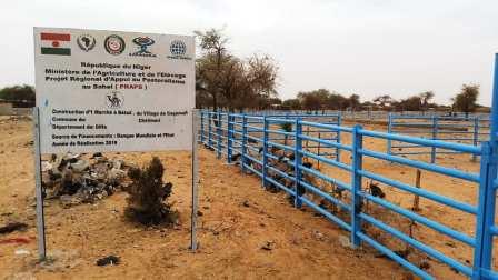 Réception provisoire du marché à bétail de Gagamari