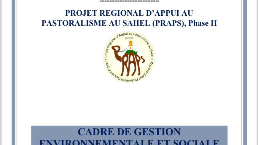 Rapport final de Cadre de Gestion Environnementale et Sociale (CGES) validé dans le cadre de PRAPS 2