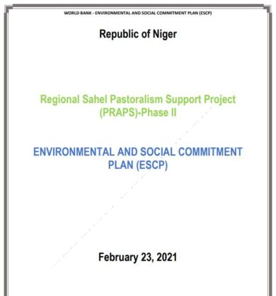 ENVIRONMENTAL AND SOCIAL COMMITMENT PLAN (ESCP)
