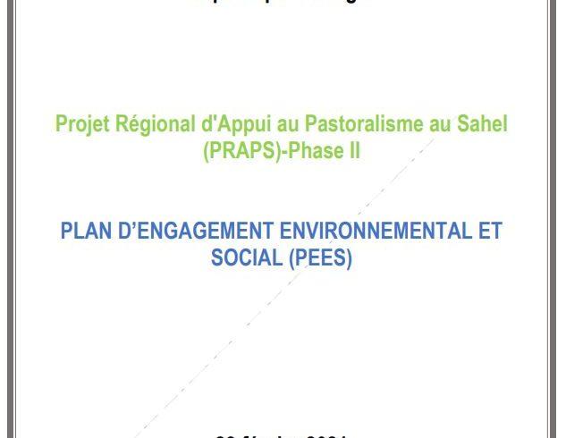 PLAN D'ENGAGEMENT ENVIRONNEMENTAL ET SOCIAL (PEES)